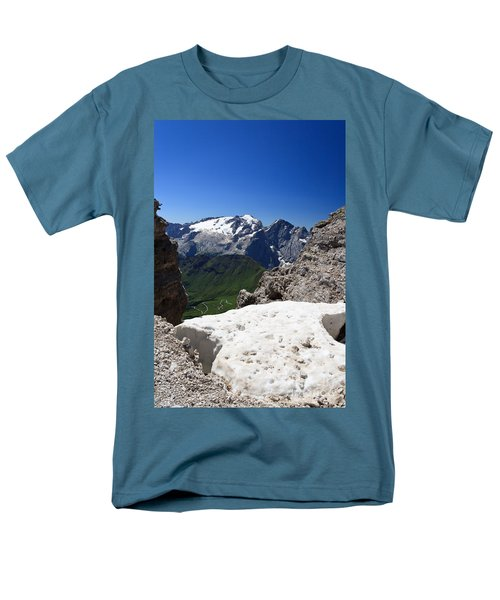 Men's T-Shirt  (Regular Fit) featuring the photograph Marmolada From Saas Pordoi by Antonio Scarpi
