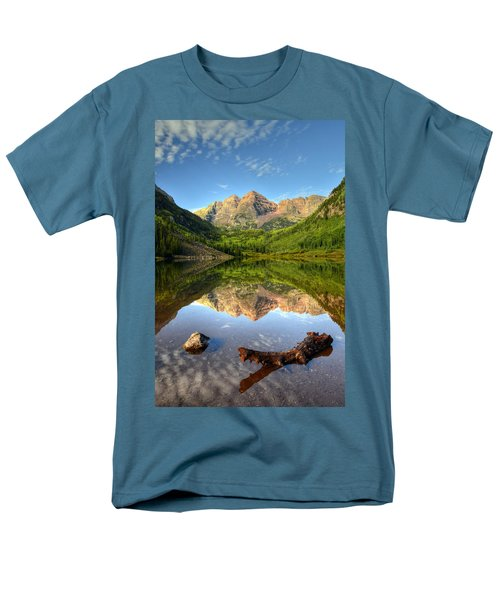 Maroon Bells And Maroon Lake Men's T-Shirt  (Regular Fit) by Ken Smith