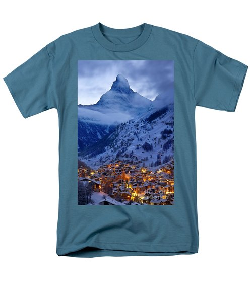 Matterhorn At Twilight Men's T-Shirt  (Regular Fit) by Brian Jannsen