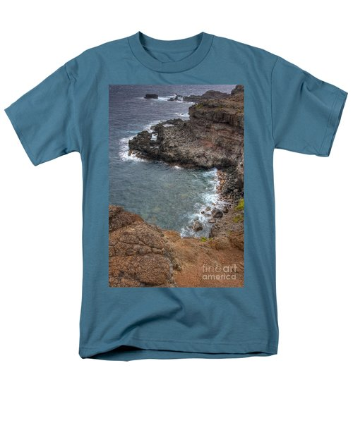 Men's T-Shirt  (Regular Fit) featuring the photograph Maui Cliff by Bryan Keil