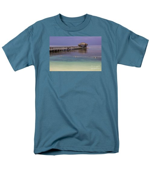 Maya Key Pier At Roatan Men's T-Shirt  (Regular Fit) by Suzanne Luft