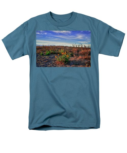 Men's T-Shirt  (Regular Fit) featuring the photograph Meadow Of Wild Flowers by Eti Reid