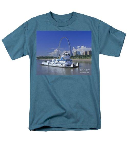 Memco Towboat In St Louis Men's T-Shirt  (Regular Fit) by Garry McMichael
