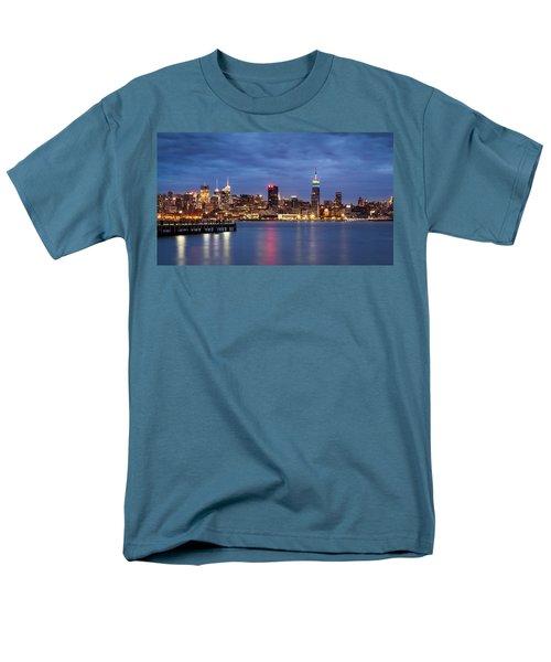 Men's T-Shirt  (Regular Fit) featuring the photograph Midtown Manhattan by Mihai Andritoiu