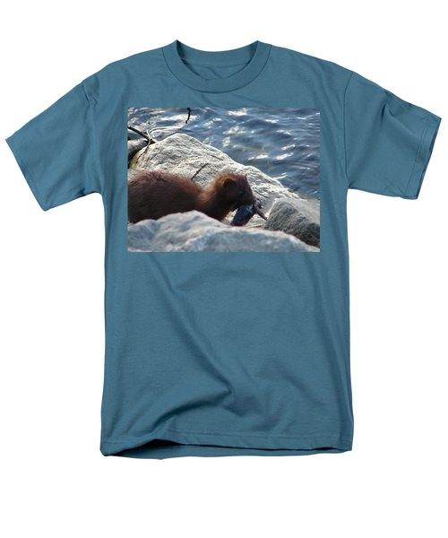 Mink With A Round Goby Men's T-Shirt  (Regular Fit) by Randy J Heath