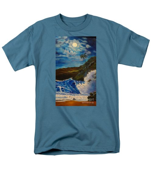 Men's T-Shirt  (Regular Fit) featuring the painting Moonlit Wave 11 by Jenny Lee