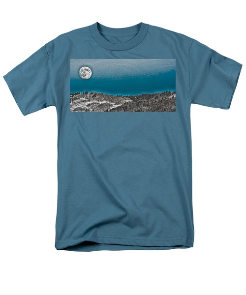 Men's T-Shirt  (Regular Fit) featuring the photograph Moonrise Over The Mountain by Don Schwartz