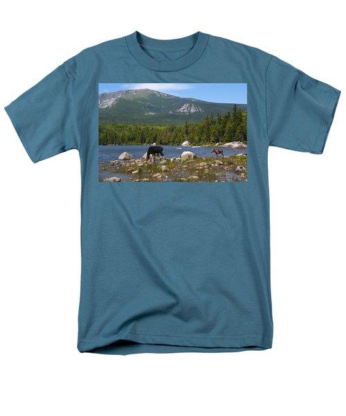 Moose Baxter State Park Maine Men's T-Shirt  (Regular Fit)