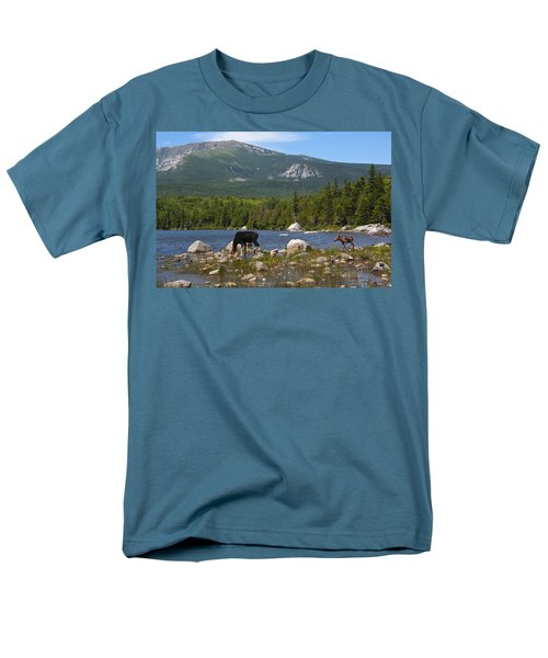 Moose Baxter State Park Maine Men's T-Shirt  (Regular Fit) by Glenn Gordon