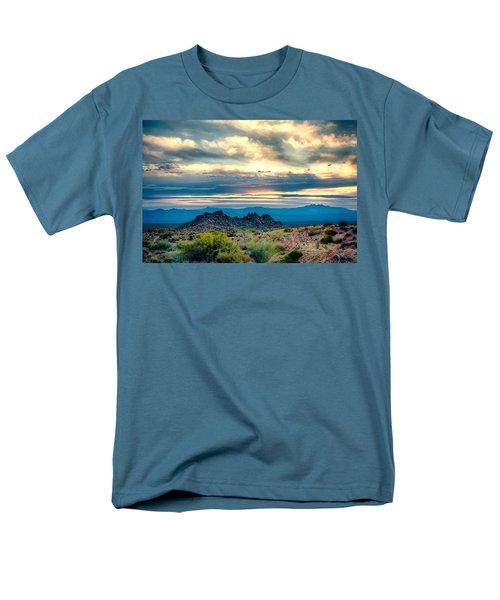 Morning Desert Glow Men's T-Shirt  (Regular Fit) by Fred Larson