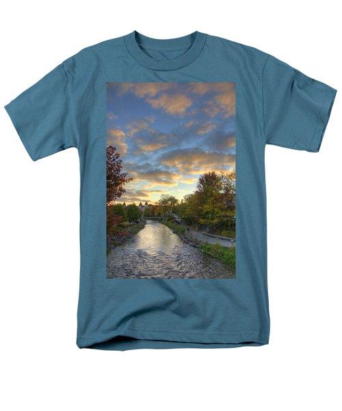 Morning Sky On The Fox River Men's T-Shirt  (Regular Fit) by Daniel Sheldon