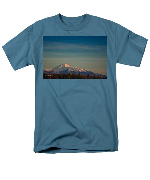 Mount Baker Sunset Men's T-Shirt  (Regular Fit)