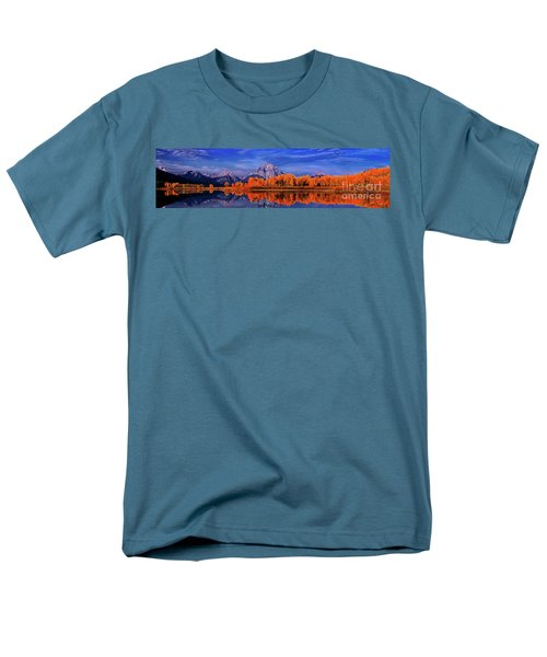 Mount Moran And Fall Color Grand Tetons Men's T-Shirt  (Regular Fit) by Dave Welling