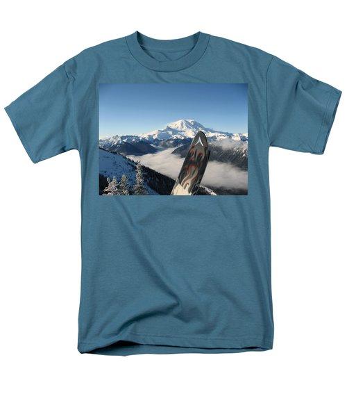 Mount Rainier Has Skis Men's T-Shirt  (Regular Fit) by Kym Backland