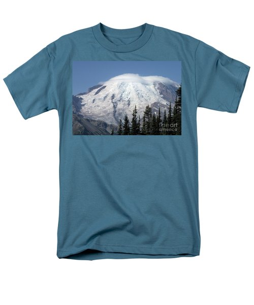 Men's T-Shirt  (Regular Fit) featuring the photograph Mt. Rainier In August 2 by Chalet Roome-Rigdon