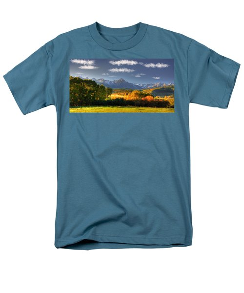 Mt Sneffels And The Dallas Divide Men's T-Shirt  (Regular Fit) by Ken Smith