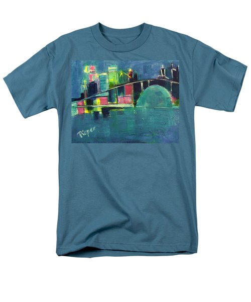 Men's T-Shirt  (Regular Fit) featuring the painting My Kind Of City by Betty Pieper