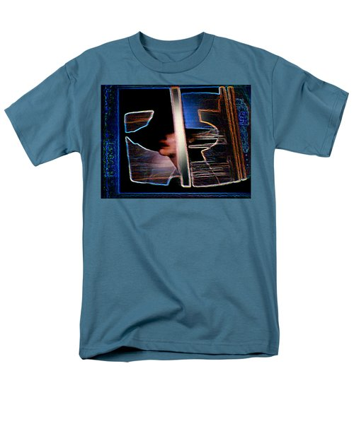 Men's T-Shirt  (Regular Fit) featuring the painting Mysterious Lady by Hartmut Jager