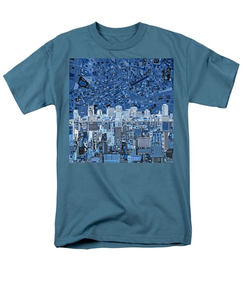 Nashville Skyline Abstract Men's T-Shirt  (Regular Fit)