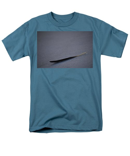 Men's T-Shirt  (Regular Fit) featuring the photograph Navarre Beach Solo Bird Feather by Jeff at JSJ Photography