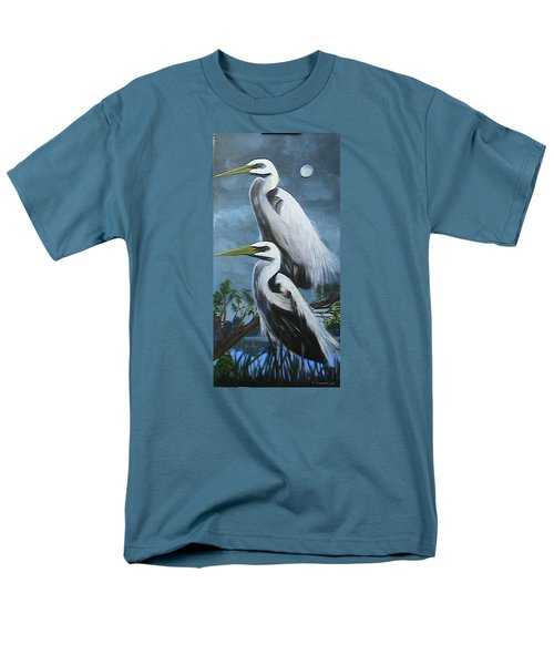 Night Egrets Men's T-Shirt  (Regular Fit) by Catherine Swerediuk