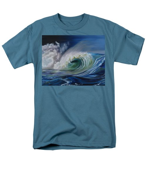 Men's T-Shirt  (Regular Fit) featuring the painting North Shore Curl by Donna Tuten