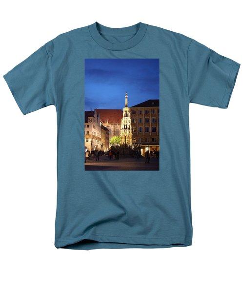 Nuernberg At Night Men's T-Shirt  (Regular Fit) by Heidi Poulin