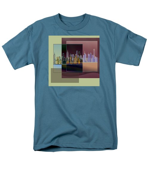 Men's T-Shirt  (Regular Fit) featuring the digital art Nyc Abstract-3 by Nina Bradica