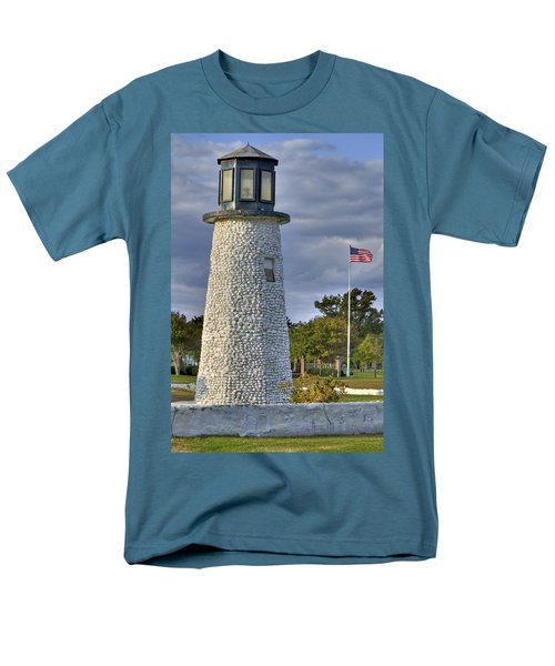 Old Buckroe Lighthouse Men's T-Shirt  (Regular Fit) by Jerry Gammon