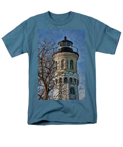 Men's T-Shirt  (Regular Fit) featuring the photograph Old Fort Niagara Lighthouse 4484 by Guy Whiteley