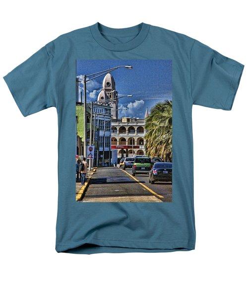 Old San Juan Cityscape Men's T-Shirt  (Regular Fit) by Daniel Sheldon