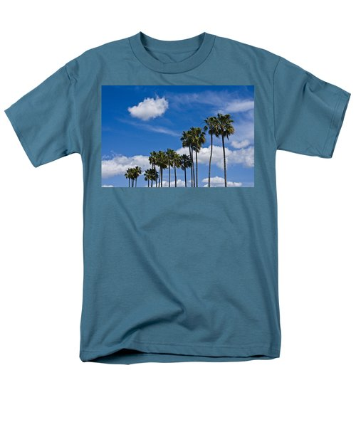 Palm Trees In San Diego California No. 1661 Men's T-Shirt  (Regular Fit) by Randall Nyhof