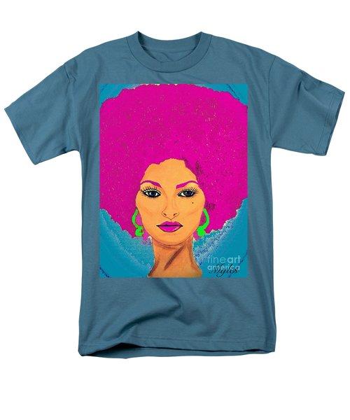 Pam Grier Bold Diva C1979 Pop Art Men's T-Shirt  (Regular Fit) by Saundra Myles