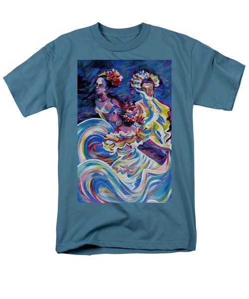 Panama Carnival. Folk Dancers Men's T-Shirt  (Regular Fit) by Anna  Duyunova