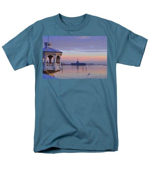 Pastel Uss Lexington Men's T-Shirt  (Regular Fit) by Leticia Latocki