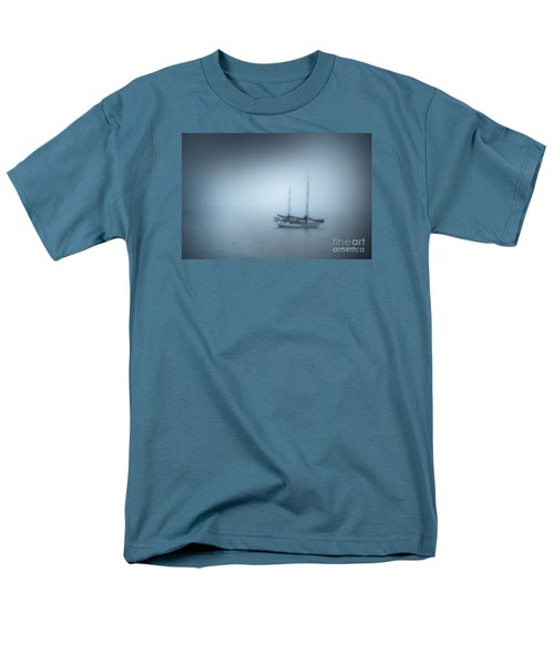 Peaceful Sailboat On A Foggy Morning From The Book My Ocean Men's T-Shirt  (Regular Fit) by Artist and Photographer Laura Wrede