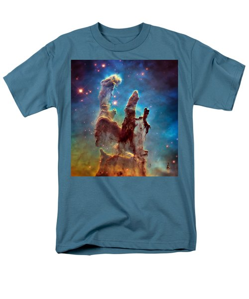 Pillars Of Creation In High Definition - Eagle Nebula Men's T-Shirt  (Regular Fit) by Jennifer Rondinelli Reilly - Fine Art Photography