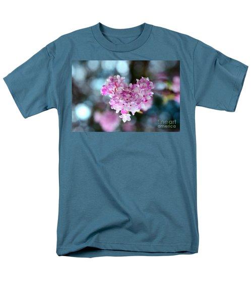 Pink Spring Heart Men's T-Shirt  (Regular Fit) by Sabine Jacobs