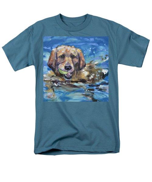 Playful Retriever Men's T-Shirt  (Regular Fit)