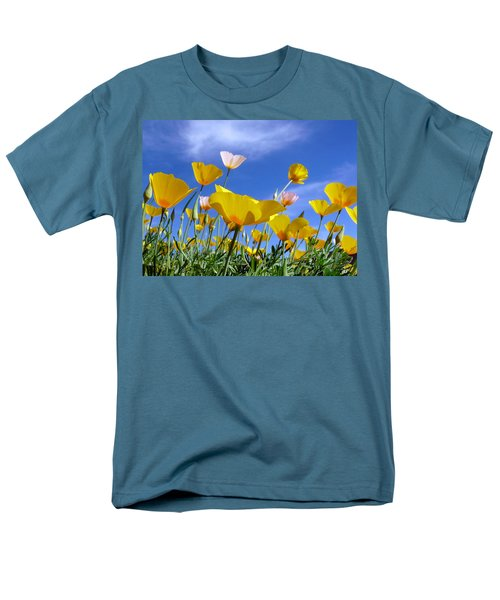 Poppies And Blue Arizona Sky Men's T-Shirt  (Regular Fit) by Lucinda Walter