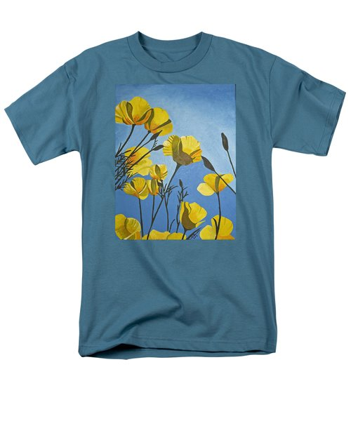 Poppies In The Sun Men's T-Shirt  (Regular Fit) by Donna Blossom