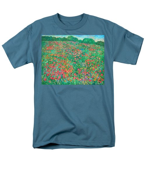 Poppy View Men's T-Shirt  (Regular Fit) by Kendall Kessler