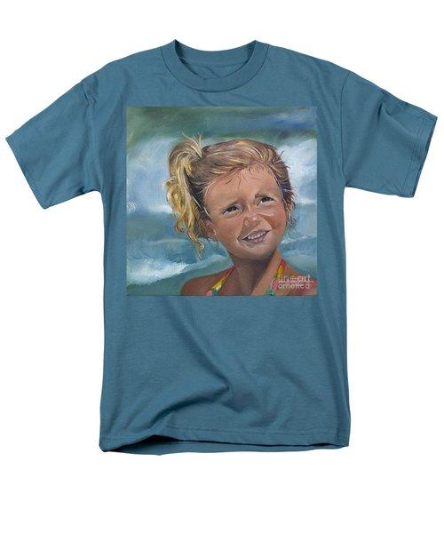 Portrait - Emma - Beach Men's T-Shirt  (Regular Fit) by Jan Dappen