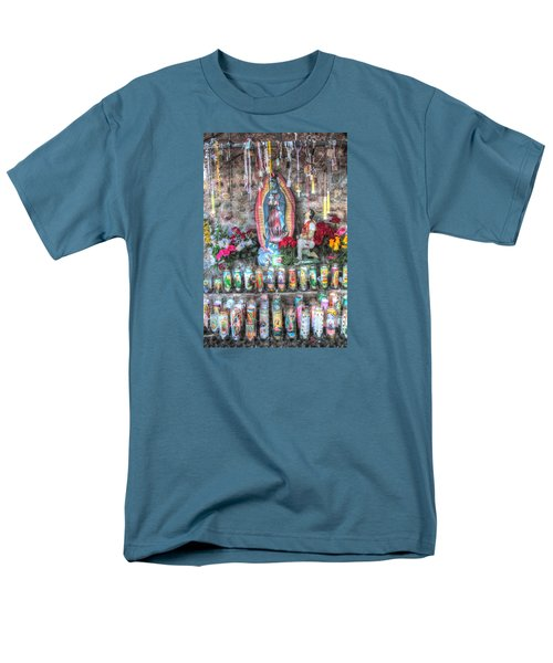 Men's T-Shirt  (Regular Fit) featuring the photograph Prayers To Our Lady Of Guadalupe by Lanita Williams