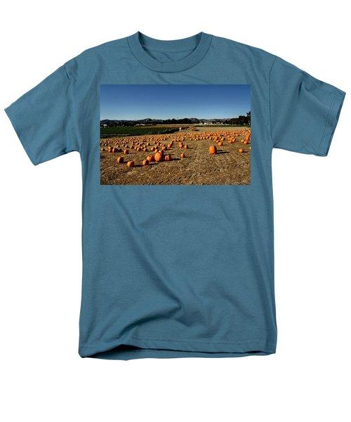 Men's T-Shirt  (Regular Fit) featuring the photograph Pumpkin Field by Michael Gordon