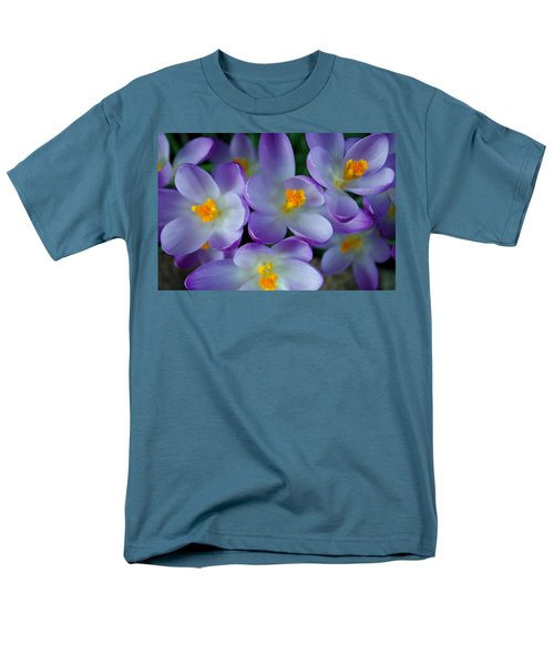 Purple Crocus Gems Men's T-Shirt  (Regular Fit) by Tikvah's Hope