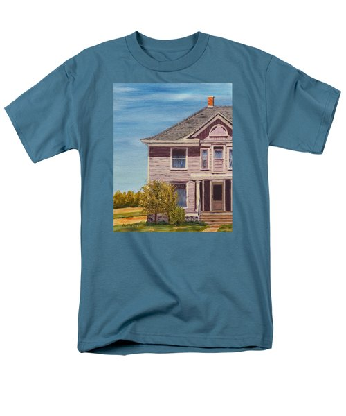 Purple House On The Prairie Men's T-Shirt  (Regular Fit) by Alan Mager