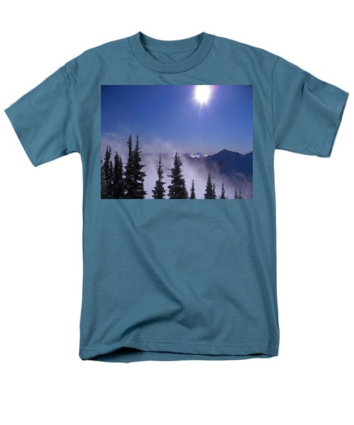 Purple Mountains Majesty Men's T-Shirt  (Regular Fit) by Kym Backland