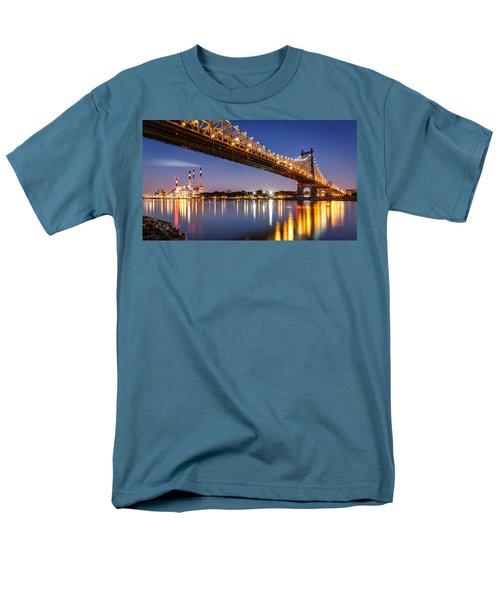Men's T-Shirt  (Regular Fit) featuring the photograph Queensboro Bridge by Mihai Andritoiu