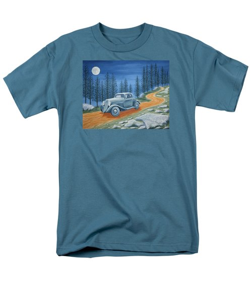 Men's T-Shirt  (Regular Fit) featuring the painting Racing Was Born In North Carolina by Stacy C Bottoms